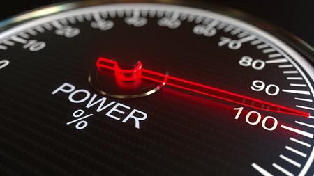 Power meter or indicator. 3D rendering