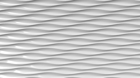 Grey plastic wavy lines. 3D rendering
