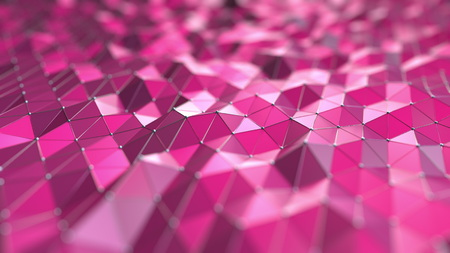 Abstract pink polygons, 3D rendering Banque d'images - 101929212