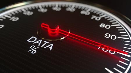 Analog meter conceptual 3D Stock Photo