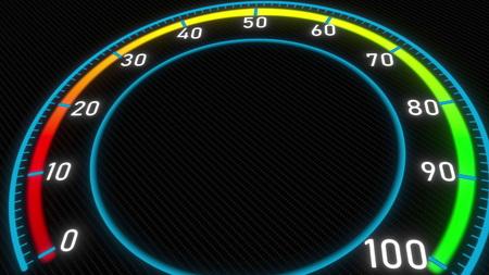 Futuristic meter or indicator. Conceptual 3D rendering