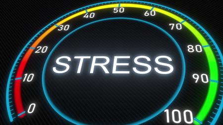 Stress meter or indicator. 3D rendering 스톡 콘텐츠