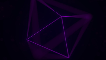 Magenta Platonic solid octahedron. Computer graphics related 3D rendering