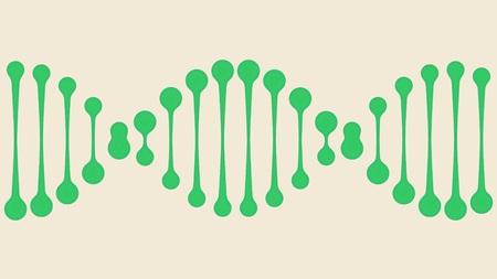 Green DNA icon. Conceptual illustration