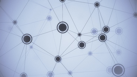 Elements and links of network. Conceptual illustration