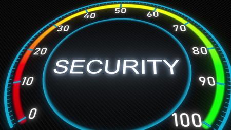 Security futuristic indicator. 3D rendering 스톡 콘텐츠