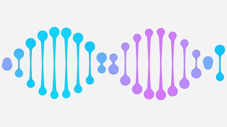 Simple DNA icon. Modern medicine related illustration