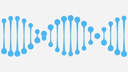 Simplified DNA molecule illustration
