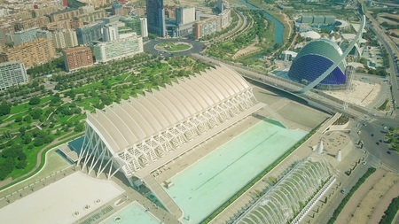 Aerial view of modern park in Valencia, Spain Banque d'images