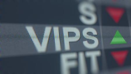 VIPSHOP HOLDINGS ADR VIPS stock ticker. Editorial 3D rendering Editorial