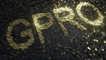 GoPro GPRO stock ticker made of gold numbers, conceptual editorial 3D rendering