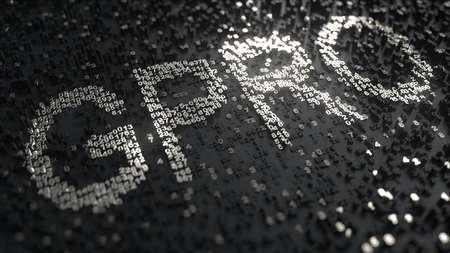 GoPro GPRO stock ticker made of silver numbers, editorial 3D rendering Editorial