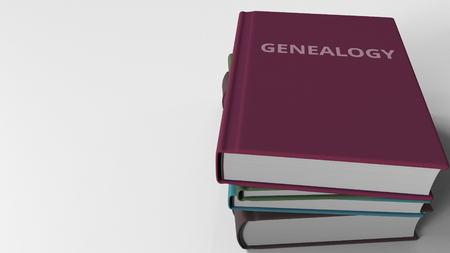 Portada del libro con título GENEALOGY. Representación 3D