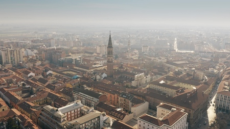 Aerial view of Alessandria cityscape, Italy