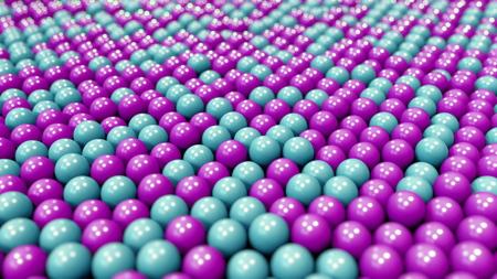 Blue and purple plastic balls, 3D rendering