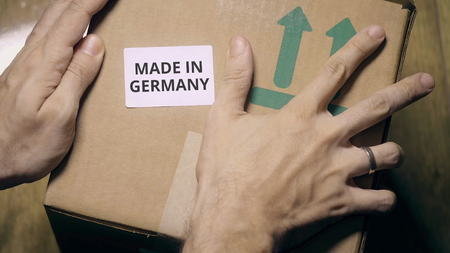 Marking box with MADE IN GERMANY label
