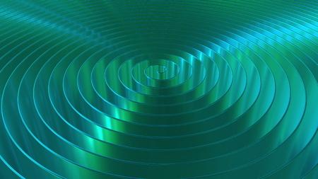 Shiny cyan coil, 3D rendering