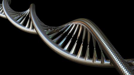 Conceptual DNA molecule model, 3D rendering