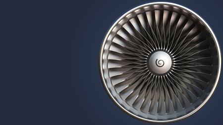 Blades of turbine, 3D rendering Stockfoto