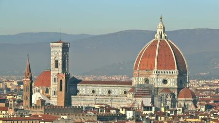 Famous Cathedral or Cattedrale di Santa Maria del Fiore in Florence, Italy