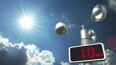 Wind speed measuring anemometer 3D Foto de archivo