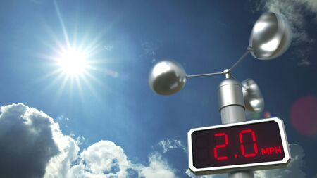 Wind speed measuring anemometer 3D Stock Photo