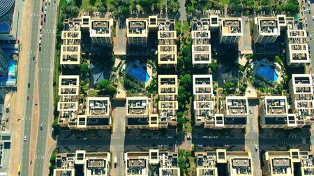 Aerial shot of luxury condominiums in Dubai, UAE