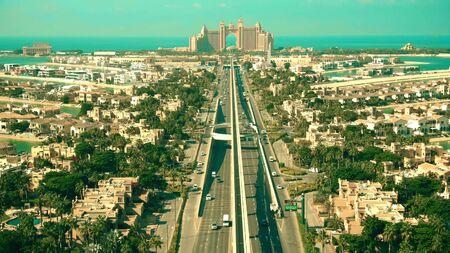Aerial shot of the Palm Jumeirah island in Dubai, UAE Reklamní fotografie