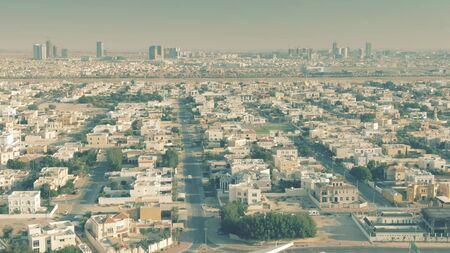 Residential area in Dubai, aerial view
