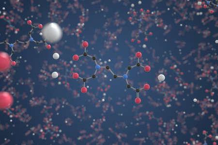 Molecule of Sodium calcium edetate. Molecular model, science related 3d rendering Stock fotó