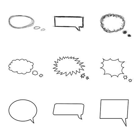 bubble talk: Talking bubble set. Comic style speech bubbles collection. Funny design vector items illustration. Talk and Think.