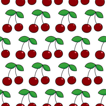 patter: Colorful vector seamless patter with  berry cherry. Illustration