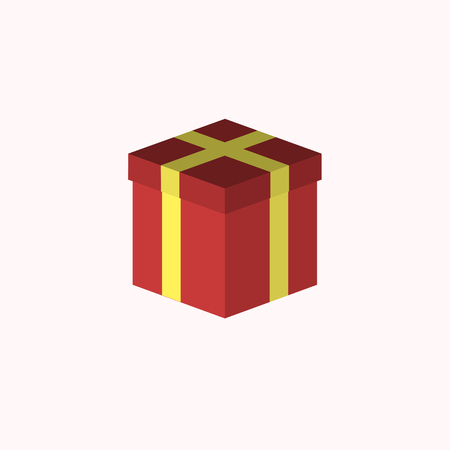 red gift box: Close Red Gift Box. Party icon.