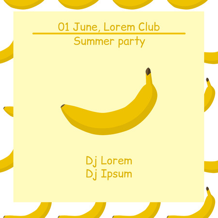 event party: Summer party. Template poster. Night club event typography. Illustration