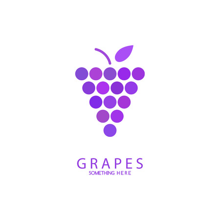 purple grapes: Abstract grapes template Illustration