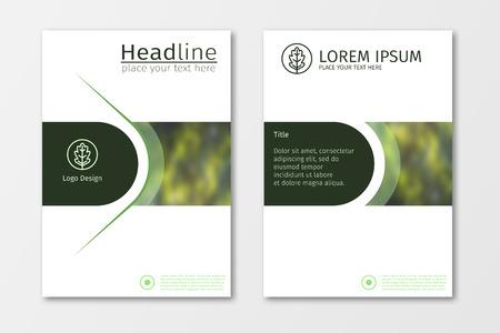 Grüne Jahresberichtgeschäftsbroschüren-Designschablone, flacher Hintergrund der Broschürenabdeckungsdarstellungszusammenfassung, Plan in der Größe A4 für Zeitschrift, Abdeckung, Plakatdesign