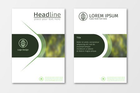 Plantilla de diseño de folletos comerciales de informe anual verde, Fondo plano de presentación de cubierta de folleto, diseño en tamaño A4 para revista, cubierta, diseño de carteles Foto de archivo - 58794377