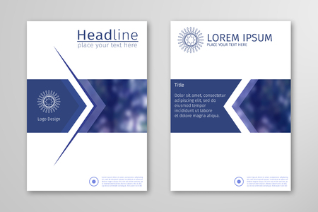 Blue annual report business brochure flyer design template vector, Leaflet cover presentation abstract flat background, layout in A4 size for magazine, cover, poster design
