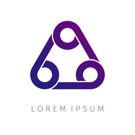 Abstract triangle spiral logo vector design. Icon design shape element. You can use logotype in energy, environmental protection, medical science concept icons.Vector illustration background.
