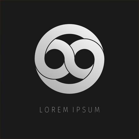 eternity: Grey infinity limitless icon. Logo template design eternity loop modern visual eight. Corporate branding identity. Illustration background. Illustration