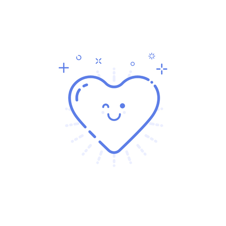 likes: illustration of icon shopping concept likes in line style Illustration