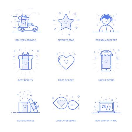 bounty: illustration of shopping icons set