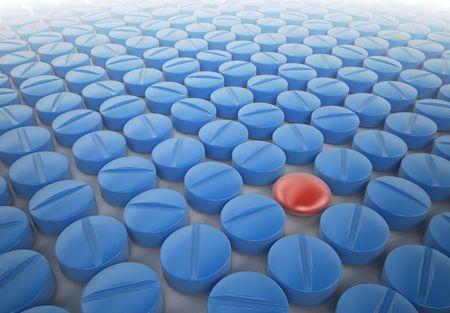 Red pill - blue pill Stock Photo - 3777333