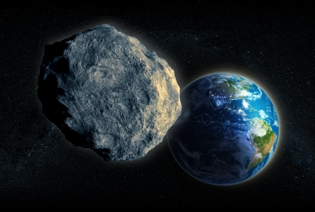 Large Asteroid closing in on Earth photo
