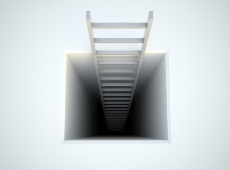 A ladder leading from underground Stock Photo - 14605812