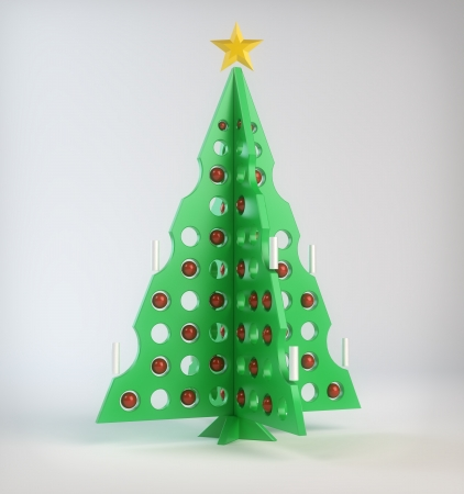Abstract designer Christmas tree photo