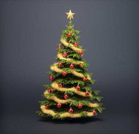 Christmas tree on a dark background Standard-Bild