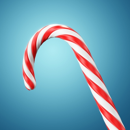 Christmas candy cane photo