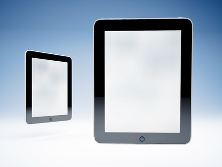 Two touchscreen tablets