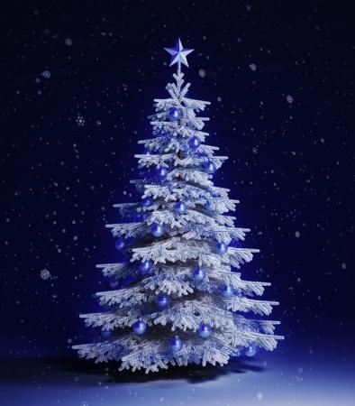 White christmas tree Stok Fotoğraf